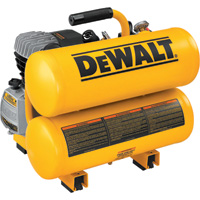 FREE SHIPPING — DEWALT Twin Stack Portable Electric Air Compressor — 1.1 HP, 4-Gallon, 4.0 CFM, Model# D55153