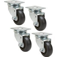 Ironton Swivel Nonmarking Polyolefin Casters — 4-Pack, 3in., 1,000-Lb. Capacity/Set, 250-Lb. Capacity Each