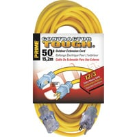 Prime Wire & Cable Contractor Tough Outdoor Extension Cord — 50ft., 12/3, 15 Amps, 125 Volts, 1875 Watts, Yellow, Model# EC511830