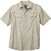 Gravel Gear Men's UPF 30 Quick-Dry Polyester Ripstop Shirt — Short Sleeve, Regular Sizes