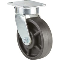 Strongway 6in. Swivel Kingpinless Phenolic Canvas Caster — 1,200-Lb. Capacity