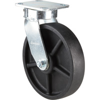 Strongway 8in. Swivel Kingpinless Phenolic Canvas Caster — 1,200-Lb. Capacity