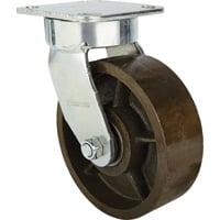 Strongway 6in. Swivel Kingpinless Steel Caster — 1,500-Lb. Capacity