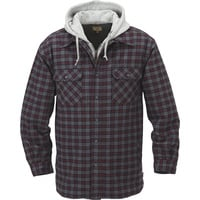 FREE SHIPPING — Gravel Gear Sherpa-Lined Hooded Flannel Shirt Jacket