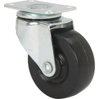 Ironton Light-Duty 2in. Swivel Nonmarking Polyolefin Caster — 100-Lb. Capacity, Black