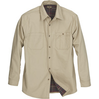 FREE SHIPPING — Gravel Gear Flannel-Lined Cotton Canvas Shirt Jacket