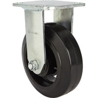 Strongway 6in. Heavy-Duty Rigid Rubber Caster — 660-Lb. Capacity