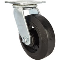Strongway 6in. Heavy-Duty Swivel Rubber Caster — 660-Lb. Capacity