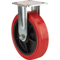 Ironton Standard-Duty 8in. Rigid Polyurethane Caster — 880-Lb. Capacity, Red