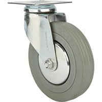 Strongway 5in. Swivel Nonmarking Rubber Caster — 220-Lb. Capacity