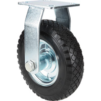 Strongway 8in. Rigid Flat-Free Solid Polyurethane Caster — 320-Lb. Capacity, Knobby Tread