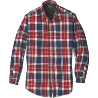 Gravel Gear Men's Thermal-Lined Flannel Long Sleeve Shirt — Regular Sizes