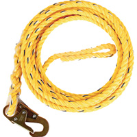 Guardian Fall Protection Poly Steel Rope Lifeline — 25ft.