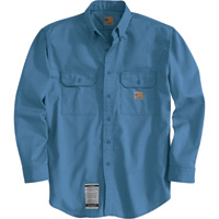 Carhartt Flame-Resistant Twill Shirt with Pocket Flap — Regular Style, Model# FRS160