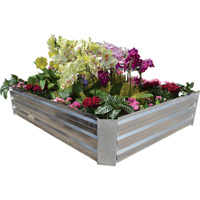 Stonegate Designs Galvanized Raised Bed — 36in.L x 72in.W. x 11 13/16in.D, Model# CSN013