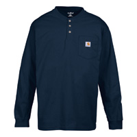 Carhartt Men's Long-Sleeve Workwear Henley — Tall Style, Model# K128