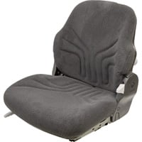K&M Uni Pro Fabric Tractor Seat — Black, Model# 8323
