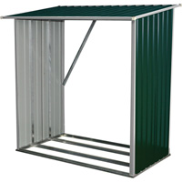 Stonegate Designs Galvanized Steel Wood Shed — 1/2-Cord Capacity, Model# WS-001