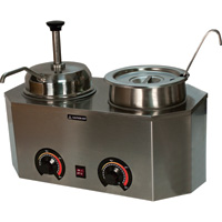 Paragon Pro Deluxe Dual Warmers with Ladle and Pump, Model# 2029E