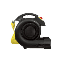 B-Air Grizzly Air Mover / Floor & Carpet Dryer — 1 HP, Safety Certified, Model GP-1-ETL Black