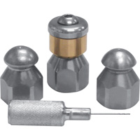 DTE Economy Sewer Jetting Nozzle Kit — 4-Pc., 1/4in.