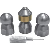 DTE Universal Sewer Jetting Nozzle Kit — 4-Pc., 3/8in.