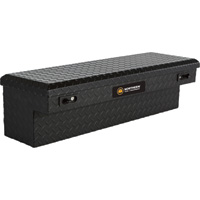 Northern Tool + Equipment Flush-Mount Matte Black Truck Tool Box — Aluminum, 36in.