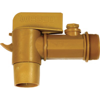 Wesco Deluxe Plastic Faucet — 2in. NPT Connection