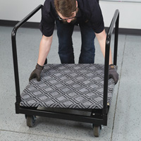 Strongway 4-Wheel Cart with Carpeted Deck — 30in.L x 29in.W, 1000-Lb. Capacity