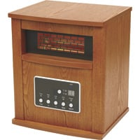 ProFusion Heat 4-Tube Infrared Quartz Heater with LED Display — 5100 BTU, 14.6in.W, Model# GD9315BCW-2J