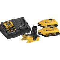 FREE SHIPPING — DEWALT 18V–20V MAX Battery Adapter Kit — With (2) 20V MAX Batteries & Charger, Model# DCA2203C