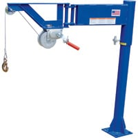 Vestil Pickup Truck Crane With Hand Winch — 400-Lb. Capacity, Model# VAN-J