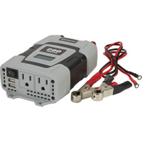 FREE SHIPPING — Strongway Power Inverter — 200 Watts, Includes Cables