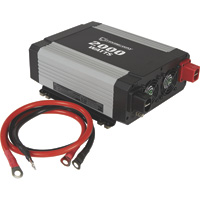 Strongway Modified-Sine Wave Portable Power Inverter with Cables — 2000 Watts, 3 Outlets/1 USB Port
