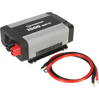 Strongway Modified-Sine Wave Portable Power Inverter with Cables — 1500 Watts, 3 Outlets/1 USB Port