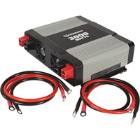 FREE SHIPPING — Strongway Modified-Sine Wave Portable Power Inverter with Cables — 3000 Watts, 3 Outlets/1 USB Port