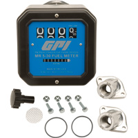 FREE SHIPPING — GPI Mechanical Fuel Meter — 1in. Inlet/Outlet, 5 to 30 GPM, Model# MR 5-30-G8N