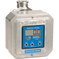 FREE SHIPPING — GPI Digital Fuel Meter — 1 1/2in. Inlet/Outlet, 5 to 30 GPM, Model# DR 5-30-12N