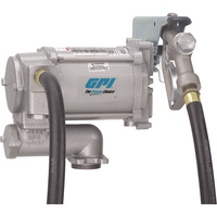 FREE SHIPPING — GPI 115V Fuel Transfer Pump — 20 GPM, Manual Nozzle, Hose, Model# M-3120-ML