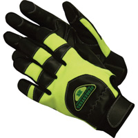 Forester Safety Green Chainsaw Gloves — Medium, Model# FOGL 1005-M