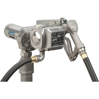 FREE SHIPPING -GPI 12V Fuel Transfer Pump — 15 GPM, Meter, Manual Nozzle, Hose, Model# M-150S-MU/FM-200-G6N