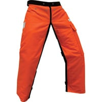 Forester Protective Apron Chaps — 40in., Orange, Model# CHAP440-O