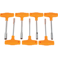 IIT T-Handle Nutdriver Set — 7-Pc., SAE
