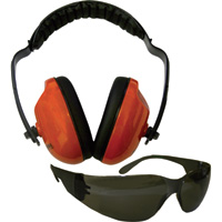 Forester Hearing Protector and Safety Glasses Combo — Orange, Model# FO513T-O