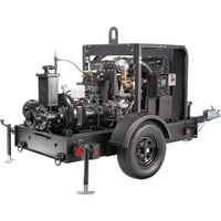 Generac Diesel Dry Prime Mobile Full Trash Pump — 1450 GPM, 4in. Ports, Tier 4 Final Approved, Model# 6962