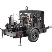 Generac Diesel Dry Prime Mobile Full Trash Pump — 2750 GPM, 6in. Ports, Tier 4 Final Approved, Model# 6963