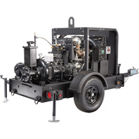 Generac Diesel Dry Prime Mobile Full Trash Pump — 1450 GPM, 4in. Ports, Tier 4 Final Approved, Model# 6964