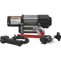 Ironton 12 Volt DC Powered Electric ATV Winch — 5000-Lb. Capacity, Steel Wire Rope