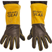 FREE SHIPPING — Gravel Gear Premium Welding Gloves — Black and Gold