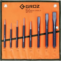 Groz 8-Pc. Punch and Chisel Set